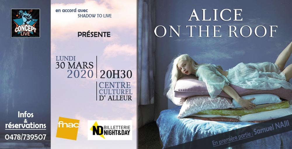 ALICE ON THE ROOF -ANS 30/03 ADULTE