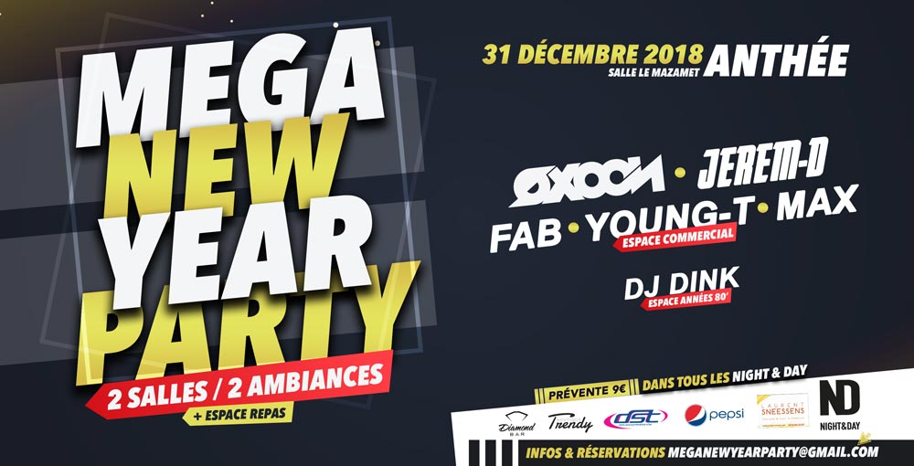 Mega New Year @ Anthee 31/12