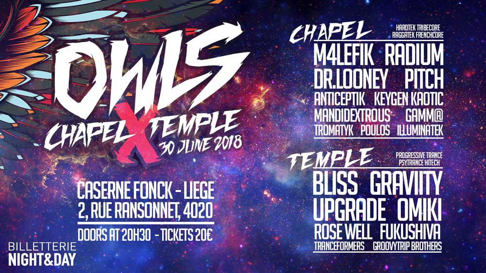 Owls' Chapel X Temple - Liege 30/06