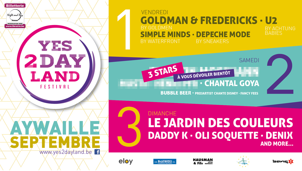 Yes2dayland Festival Aywaille 3days