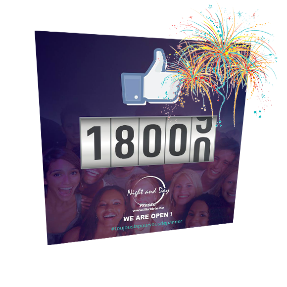 Facebook Night & Day: 18.000 followers !