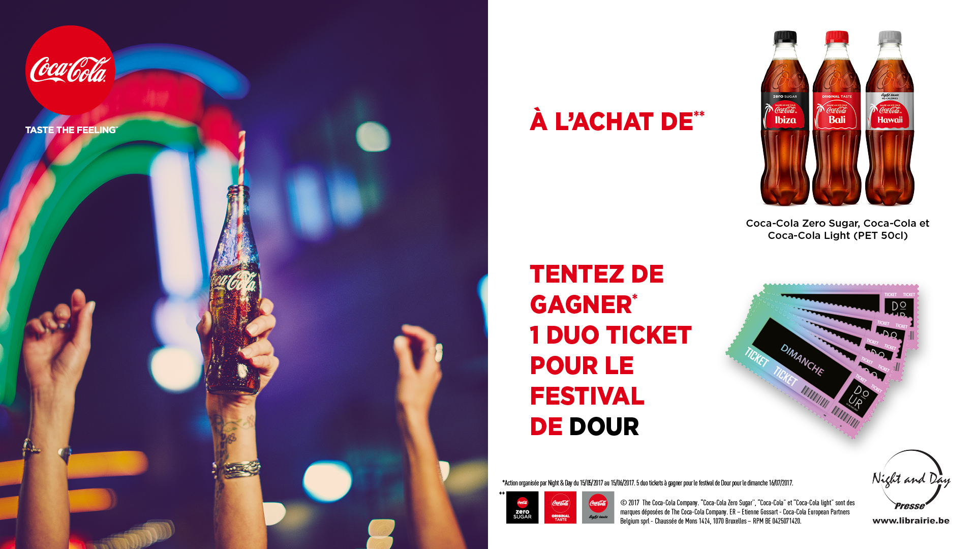 A GAGNER: 5 DUO TICKETS POUR DOUR !