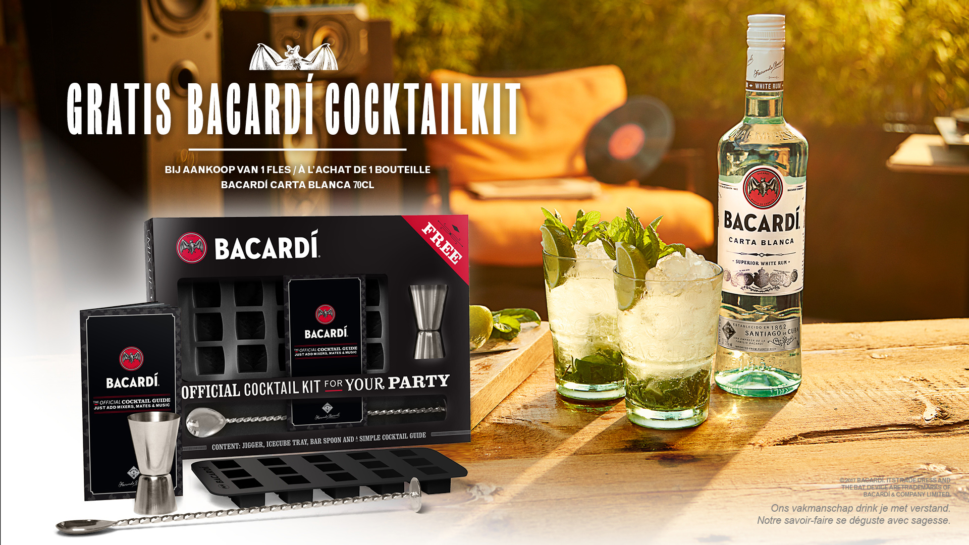 Action BACARDI COCKTAIL KIT