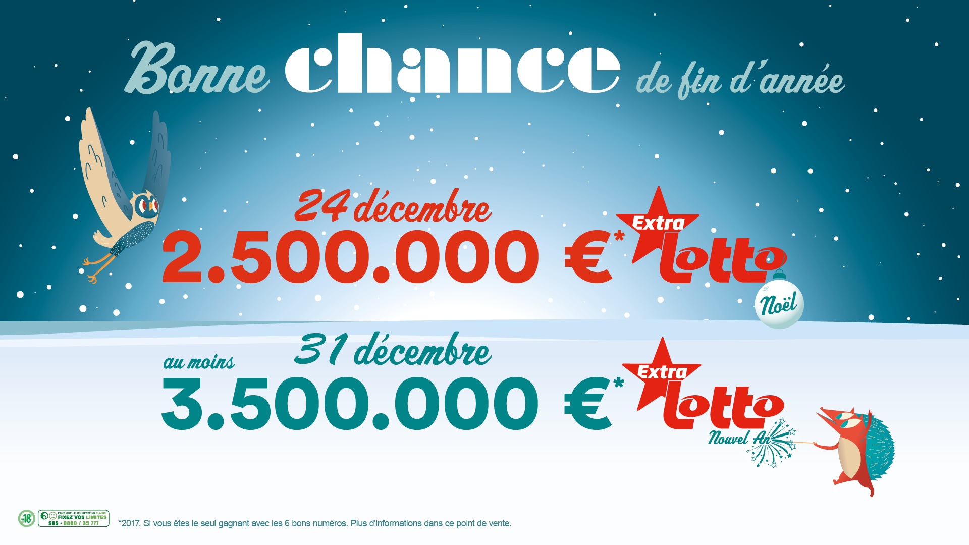 Cagnotte Lotto Extra du Nouvel An